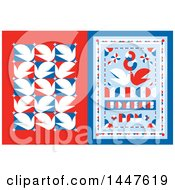 Clipart Of A Retro Styled 8th Of March International Womens Day Design With Red White And Blue Doves Royalty Free Vector Illustration by elena