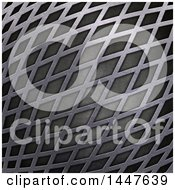 Clipart Of A Metal Grid Background Texture Royalty Free Illustration