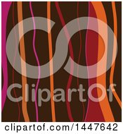 Clipart Of A Background Of Brown Pink And Orange Waves Royalty Free Vector Illustration