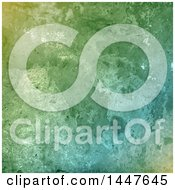 Clipart Of A Textured Green Background Royalty Free Vector Illustration