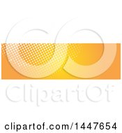 Clipart Of A White And Orange Halftone Dot Website Header Royalty Free Vector Illustration