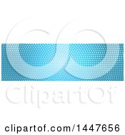 Clipart Of A White And Blue Halftone Dot Website Header Royalty Free Vector Illustration