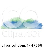 Clipart Of A Green And Blue Watercolor Paint On White Website Header Royalty Free Vector Illustration