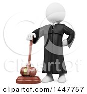 Clipart Of A 3d White Man On A White Background Royalty Free Illustration