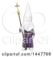 Clipart Of A 3d Man In A Clock At A Spanish Holy Week Processions On A White Background Royalty Free Illustration