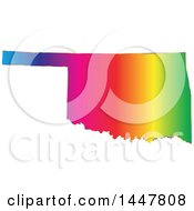 Clipart Of A Gradient Rainbow Map Of Oklahoma United States Of America Royalty Free Vector Illustration by Jamers