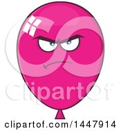Cartoon Mad Magenta Party Balloon Mascot