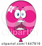 Cartoon Screaming Magenta Party Balloon Mascot
