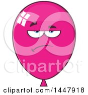 Cartoon Bored Magenta Party Balloon Mascot