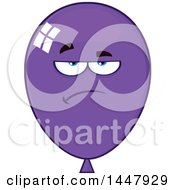 Cartoon Bored Purple Party Balloon Mascot