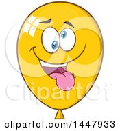 Cartoon Goofy Yellow Party Balloon Mascot