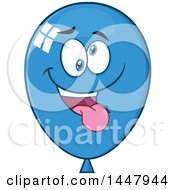Cartoon Goofy Blue Party Balloon Mascot