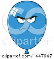Poster, Art Print Of Cartoon Mad Blue Party Balloon Mascot