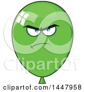 Poster, Art Print Of Cartoon Mad Green Party Balloon Mascot