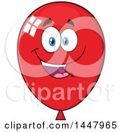 Cartoon Happy Red Party Balloon Mascot
