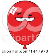 Cartoon Bored Red Party Balloon Mascot