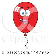 Poster, Art Print Of Cartoon Red Party Balloon Character