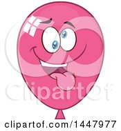 Cartoon Goofy Pink Party Balloon Mascot