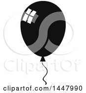 Poster, Art Print Of Cartoon Black And White Party Balloon