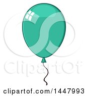 Cartoon Turquoise Party Balloon