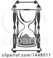 Clipart Of A Grayscale Hourglass Timer Royalty Free Vector Illustration