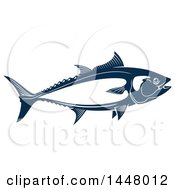 Clipart Of A Navy Blue Tuna Fish Royalty Free Vector Illustration by Vector Tradition SM