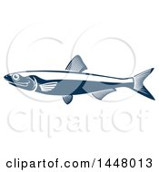Navy Blue Sprat Fish