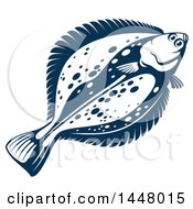Navy Blue Flounder Fish
