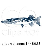 Navy Blue Pike Fish
