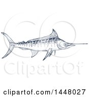 Sketched Marlin Fish
