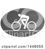 Grayscale Bicycle Cyclist Icon
