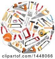 Clipart Of A Circle Of Tools Royalty Free Vector Illustration