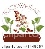 Buckwheat Text Seed And Leaf Over A Blank Tag Design