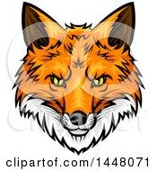 Vicious Fox Mascot Face