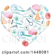 Clipart Of A Heart Formed Of Medical Icons Royalty Free Vector Illustration by Vector Tradition SM