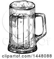 Poster, Art Print Of Black And White Sketched Beer Mug