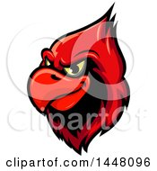 Clipart Of A Grinning Red Cardinal Mascot Head Royalty Free Vector Illustration