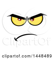 Clipart Of A Mad Face Royalty Free Vector Illustration by Hit Toon