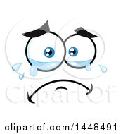 Clipart Of A Sad Crying Face Royalty Free Vector Illustration