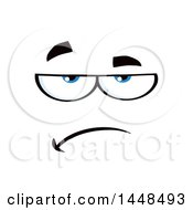 Clipart Of A Bored Or Skeptical Face Royalty Free Vector Illustration
