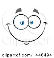 Clipart Of A Happy Face Royalty Free Vector Illustration