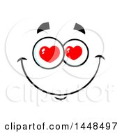 Clipart Of A Loving Face With Heart Eyes Royalty Free Vector Illustration