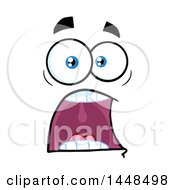 Clipart Of A Screaming Face Royalty Free Vector Illustration