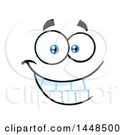 Clipart Of A Grinning Face Royalty Free Vector Illustration