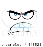 Clipart Of A Mean Face Royalty Free Vector Illustration by Hit Toon