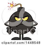 Clipart Of A Cartoon Mad Bomb Mascot Character With Legs And Arms Royalty Free Vector Illustration by Hit Toon