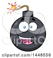 Clipart Of A Cartoon Happy Bomb Mascot Character Royalty Free Vector Illustration by Hit Toon