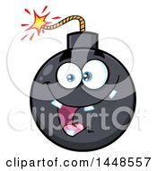 Clipart Of A Cartoon Happy Bomb Mascot Character With Teeth Royalty Free Vector Illustration by Hit Toon