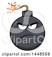 Clipart Of A Cartoon Angry Bomb Mascot Character Royalty Free Vector Illustration by Hit Toon