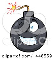 Clipart Of A Cartoon Winking Bomb Mascot Character Royalty Free Vector Illustration by Hit Toon